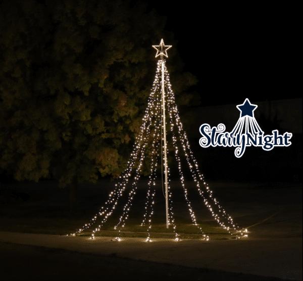 Starry Night® Flagpole Christmas Tree Lights